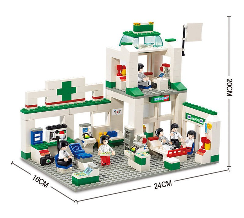 City Rescue Emergency Hospital Clinic Ambulance Lego Compatible Children's Birthday Gift