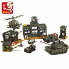Military Army War Base Bunker Tank Helicopter Lego Compatible Toy Military Sets