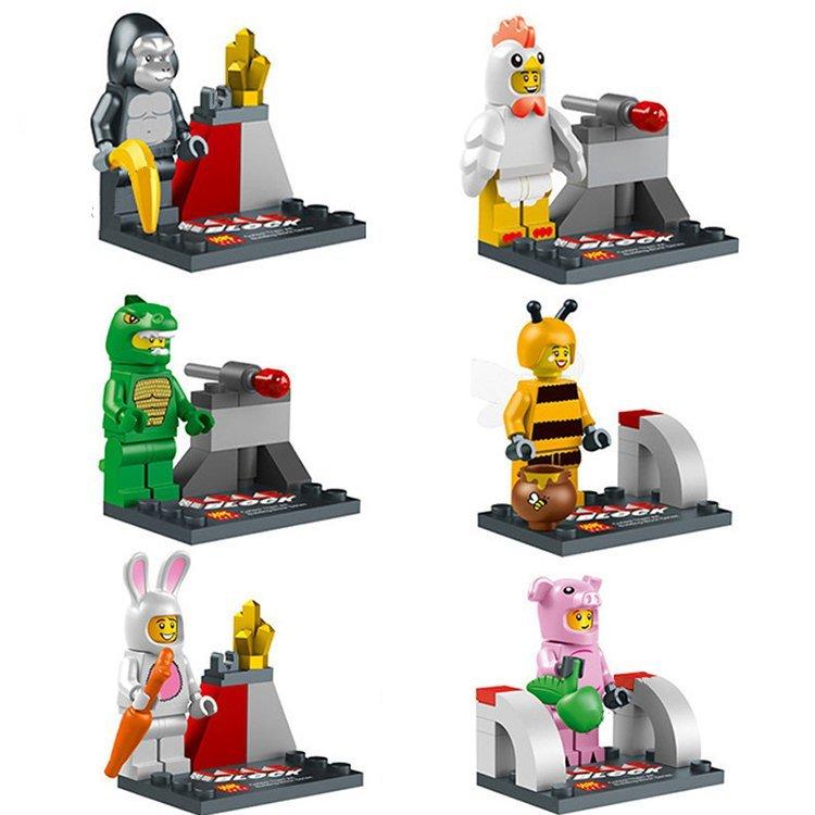 City Civilian Costume Dressup Pig Bee Bunny Ape Lego City Civilian Compatible Toys