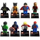 Super Hero Avenger Hulk Spiderman Ironman Minifigure Lego Compatible Minifigures