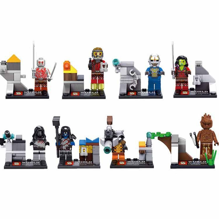 Super Hero Guardian Galaxy Marvel Star Lord Minifigure Lego Compatible Toys