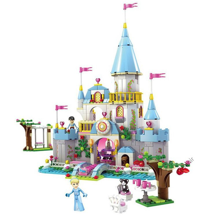 Fairy Tale Cinderella Lego Compatible  Princess Castle Ball Palace Doll House Gift for Girls
