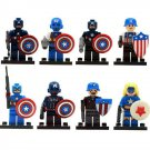 Marvel Avenger Minifigures Captain America Soldier Compatible Lego Captain America