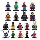 DC Justice League SDCC Lego minifigures Compatible Batman The Flash Spiderman