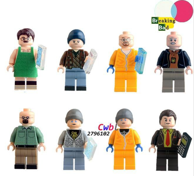 Breaking Bad Badger Jesse Pinkman Hank Schrader Saul Goodman Lego Compatible Minifigures
