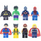 Marvel Avengers Super Heroes Wolverine Batman Superman Xmen Lego Minifigures Compatible