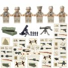 WW2 Soldiers German Army 7th Group  Compatible Lego Soldiers Minifigures