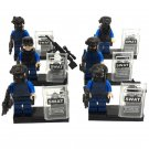 City Police SWAT military Minifigure Compatible Lego Police Building Toys