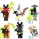 Ninja Pythor Echo Zane Samurai X Cave Minifigures Compatible Lego Toys