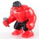Red Hulk Minifigures Marvel sets Lego Compatible Toy