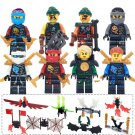 Phantom Ninjago Zane Wu Kai Minifigure Compatible Toys Lego
