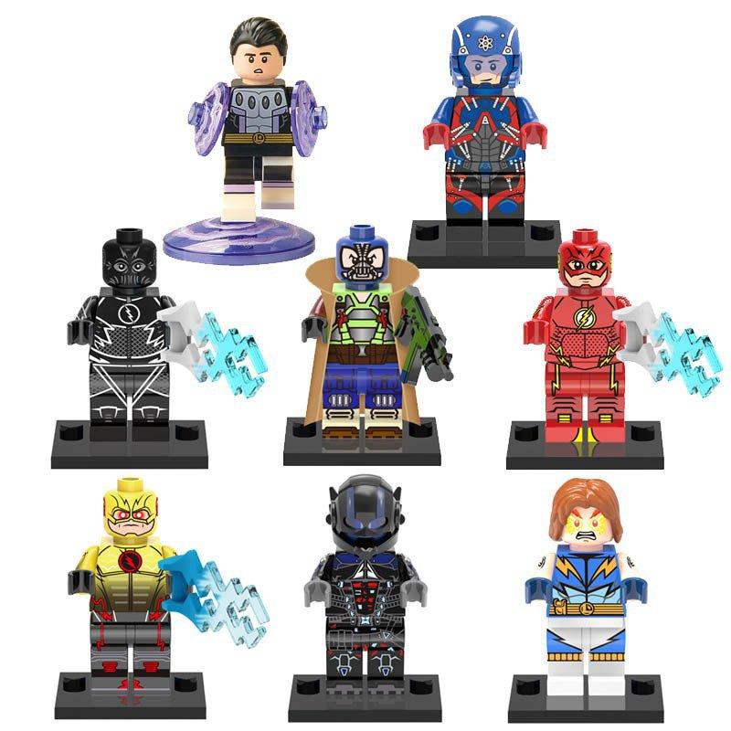 DC Super Heroes Atom reverse Flash Bane Lego Minifigure Compatible Toy