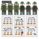 Military set SWAT Bomb Squad Anti Violence minifigures Lego Compatible Toy