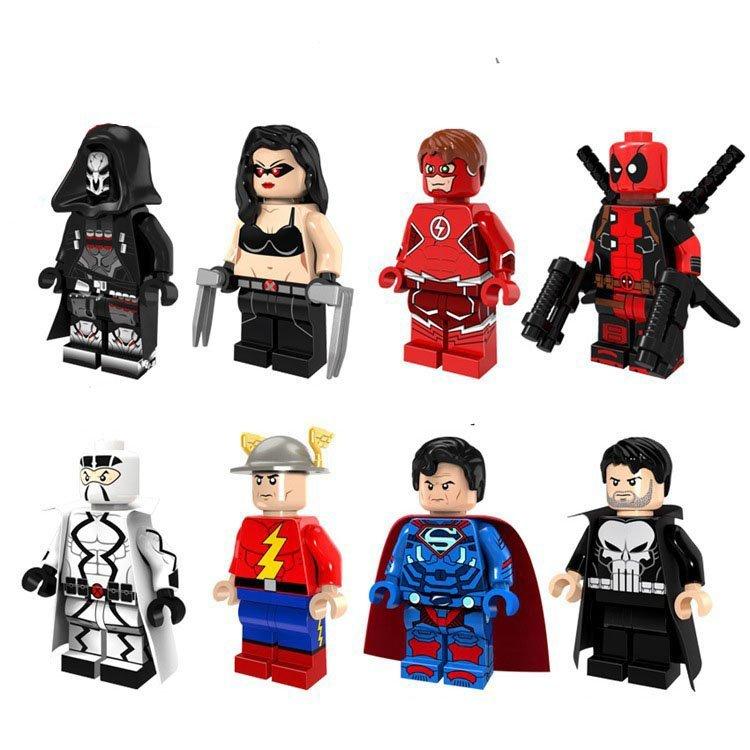 The Flash Lara Croft Deadpool Minifigures Lego Dc Superhero Sets