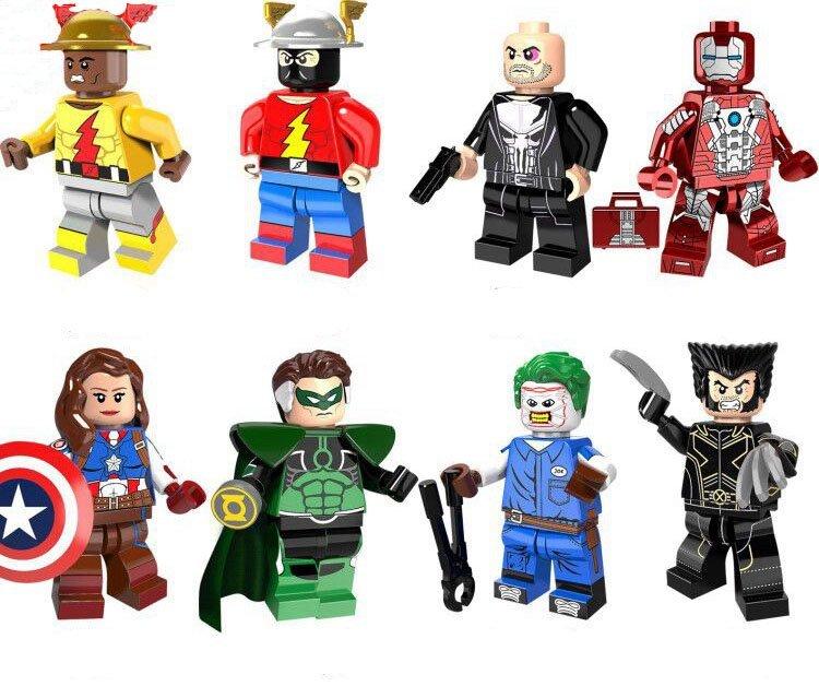 Dc Superhero Sets The Flash Iron Man Wolverine Minifigures Lego