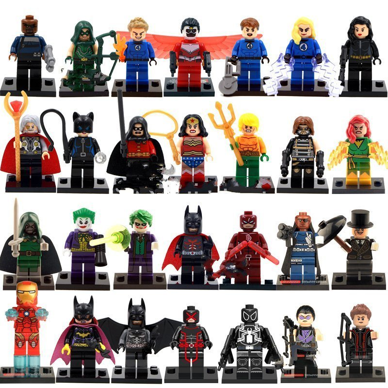 Marvel Dc Super Heroes Sets Minifigures Lego Compatible Toys