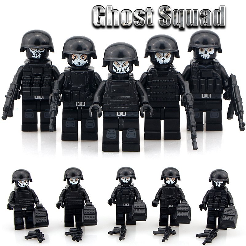 Ghost Squad Military Minifigures Shooting Game Building Block Toy