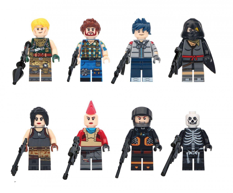 Jonesy Builder Minifigures Compatible Lego Fortnite Game Building