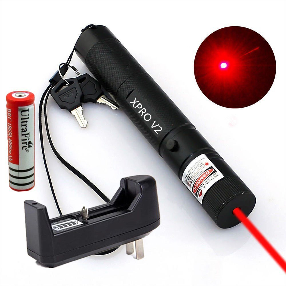 5mw 650nm Cat Toy Red Laser Pointer Pen XPRO Powerful Laser Pen+Battery+Charger