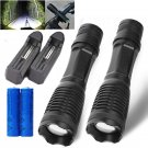2PC LED Military Lumens X800 Tactical Flashlight Alonefire ShadowHawk Set