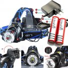 3000LM T6 Cree LED Rechargeable Headlamp Tactical XM-L Headlight+Battery+Charger