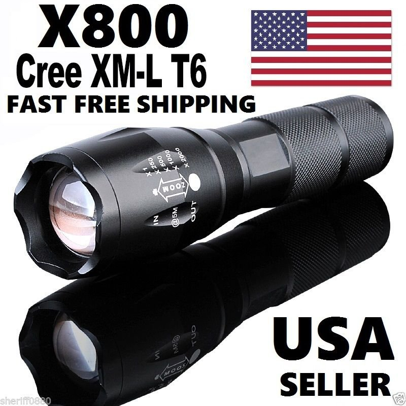 X800 Tactical Flashlight LED Military Lumens Alonefire ShadowHawk Set