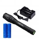 4000LM T6 LED Flashlight Cree XML Rechargeable Tactical LUMITAK+Battery+Charger