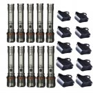 10Set 3000LM X800 Rechargeable Tactical Cree XML T6 LED Flashlight + Battery + Charger
