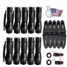 10PC X800 Tactical Flashlight LED Military Lumens Alonefire ShadowHawk Set