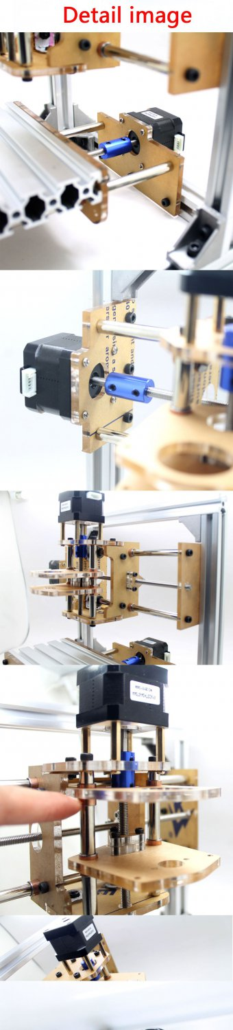 DIY CNC Engraver Machine PCB Milling Plastic Wood Carving Printer GRBL No Motors