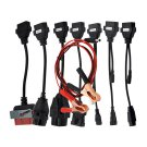 8 Car Cables OBD Kit For Delphi Autocom VCI TCS OBD2 PSA FIAT OPEL BMW AUDI Benz