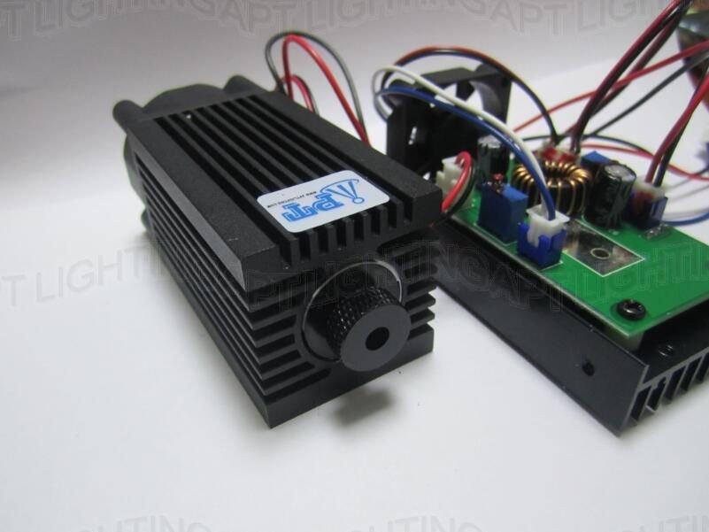 2000mw Blue Purple Dot Laser 2W 445nm 450nm DIY CNC Machine Part Diode Module