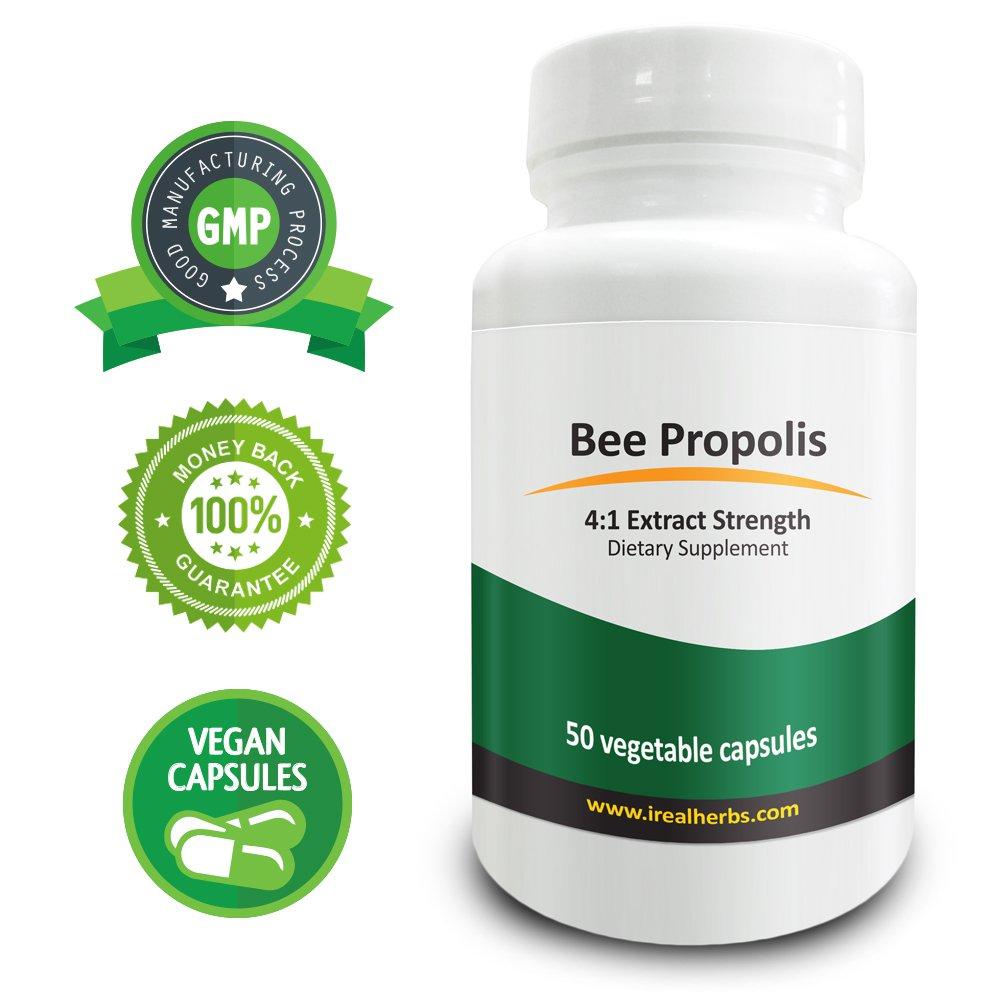 Real Herbs Bee Propolis Extract PE 4:1 - Equal to 2800mg of Bee Propolis