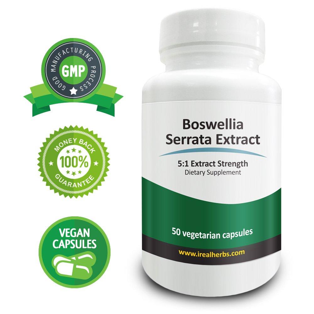 Real Herbs Boswellia Serrata Extract PE 5:1 - Equal to 3500mg of Boswellia Serrata