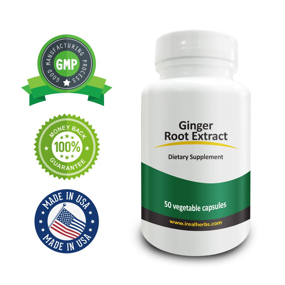Real Herbs Ginger Root Extract PE 5:1 - Equal to 3500mg of Ginger Root