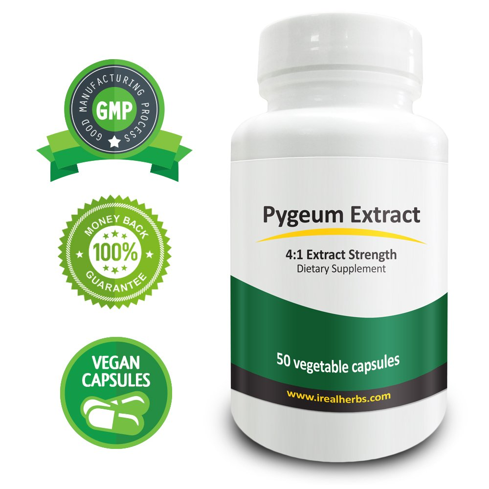 Real Herbs Pygeum Bark Extract PE 4:1 - Equal to 2000mg of Pygeum Bark