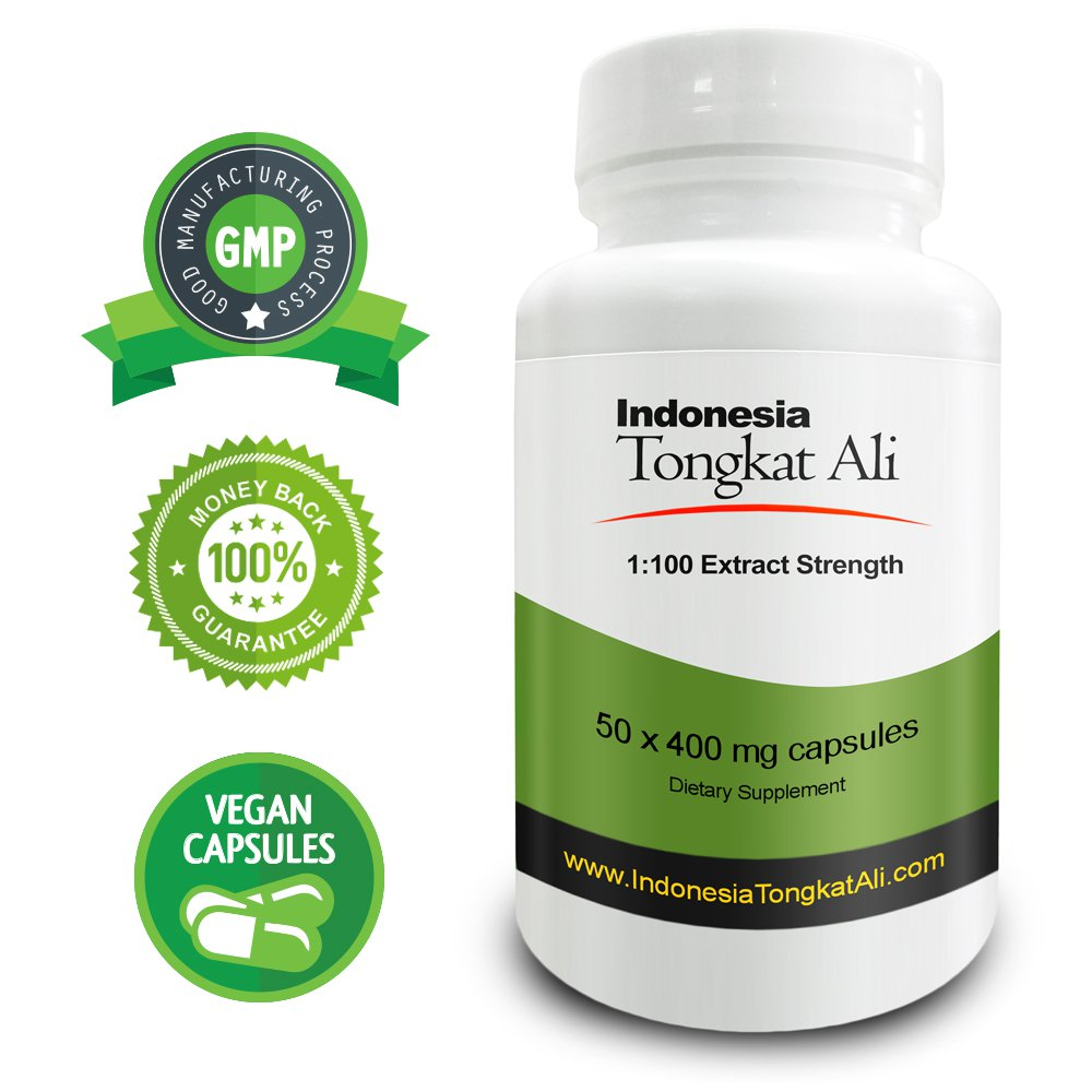 Real Herbs Indonesia Tongkat Ali 1:100 Strength - Natural Testosterone Booster
