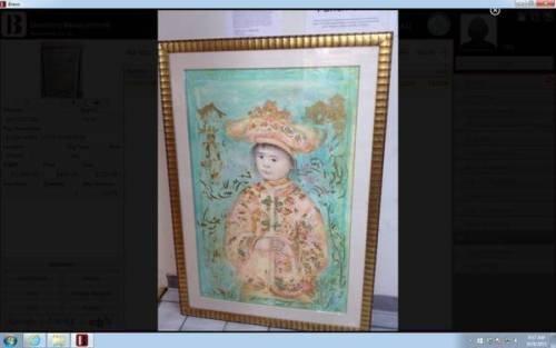 EDNA HIBEL FRAMED LITHOGRAPH LITTLE EMPEROR- Hand Signed And Numbered
