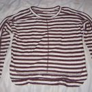 NEW Madewell Sweatshirt Knit Top 100% Cotton 3/4 Sleeve Striped Womens Small