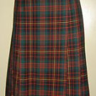 Pendleton Tartan Plaid Pleated Skirt 100% Virgin Wool Womens Black Red 10 USA