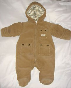 Ralph Lauren Corduroy Snowsuit Boys Girls Infant Brown Bunting Layette 3 months