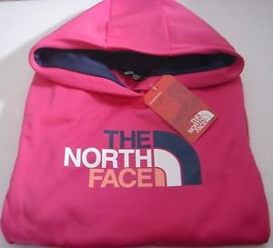 NORTH FACE Pullover Hoodie FAVE Half Dome Logo PINK Performance Womens XL NWT