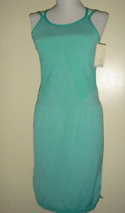 New Balance Athletic Seamless Dress Tennis Golf BodyCon Sheath Green Womens L