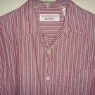 LEVI STRAUSS SIGNATURE Shirt Button Long Sleeve 100% Cotton Striped Mens Medium