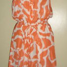 ANN TAYLOR LOFT 100% SILK SLEEVELESS DRESS RUFFLED BLOUSON WOMENS SIZE 0