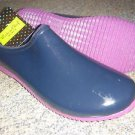 Western Chief Rubber Garden Clogs Mules Rain Shoe Waterproof Navy Blue Womens 10