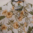 Havana Jack's Cafe Hawaiian Camp Aloha Shirt Floral Tropical Rayon Mens Medium