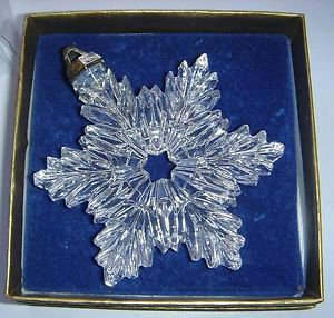 Full Lead Crystal Snowflake Ornament Metropolitan Museum of Art MMA Original Box
