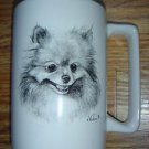 Pomeranian Coffee Mug Cup Porcelain Vladimir Dog Lover Series by Rosalinde