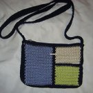 THE SAK Elliott Lucca Color Block Crochet Knit Shoulder Bag Handbag Crossbody